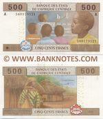 Gabon 500 Francs 2002 (2015) (A 5401626xx) UNC