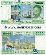 Gabon 5000 Francs 2002 (A 6328724xx) UNC