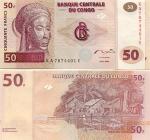 Congo D.R. 50 Francs 2000 (KA78744xxE) UNC