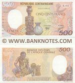 Central African Republic 500 Francs 1.1.1987 (R.02/04111093x) UNC
