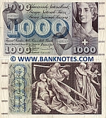 Switzerland 1000 Francs 10.2.1971 (circulated) (ph) VF