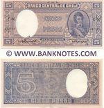 Chile 5 Pesos = 1/2 Condor (1947-58) (G86/0871xx) AU