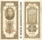 China 1 Customs Gold Unit 1930 (MA334543) (circulated) Fine