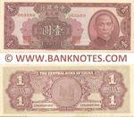 China 1 Silver Dollar 1949 (063589/1-J) AU-UNC