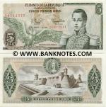 Colombia 5 Pesos Oro 1981 (00312xxx) UNC