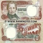 Colombia 500 Pesos Oro 1990 (673485xx) UNC