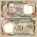 Colombia 2000 Pesos 1986 (068866xx) UNC