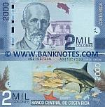 Costa Rica 2000 Colones 2.9.2009 (A03105754x) UNC