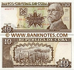 Cuba 10 Pesos 2007 (DI-10/3752xx) UNC