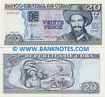 Cuba 20 Pesos 2008 (CK-08/1338xx) UNC