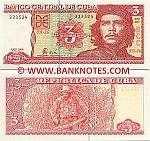 Cuba 3 Pesos 2004 (FA-26/4930xx) UNC