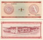 Cuba 1 Peso (1985) (CA 4469xx) UNC