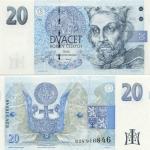 Czech Republic 20 Korun 1994 (B23 594xxx) UNC