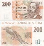 Czech Republic 200 Korun 1998 (G10 131021) UNC
