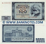 German Democratic Republic 100 Mark 1964 (AA65529xx) UNC