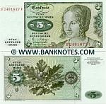 Germany 5 Deutsche Mark 2.1.1980 (B24916xxU) UNC