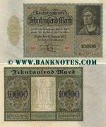 Germany 10000 Mark 19.1.1922 (D.6178520) (lt. circulated) XF+