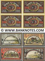 "Germany: Neustadt (Mecklenburg), ""Colonies"" set of 4: 50,50,75,75 Pf. 1922 (L934b) UNC"