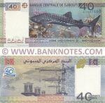 Djibouti 40 Francs 2017 (AC0097xxx) UNC