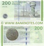 Denmark 200 Kroner 2016 (B0161L/183112L) (Sig: Rohde, Sørensen) UNC