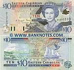 Dominica 10 Dollars (2000) (D23000xD) UNC