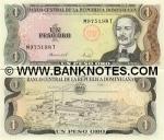 Dominican Republic 1 Peso Oro 1987 (E151xxxQ) UNC