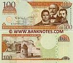 Dominican Republic 100 Pesos Oro 2010 (WJ6999xxx) UNC