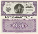 Dominican Republic 50 Centavos Oro (1961) (A1260xxx) UNC