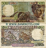 Algeria 500 Francs 1955 (F.950/23730574) (circulated) F+
