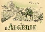 """Algerian wine label """"Un fin vin blanc d'Algérie"""" UNC"""
