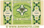 Algeria Lottery ticket 860 Francs 1956. Serial # 254872 XF