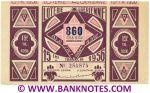 Algeria Lottery ticket 860 Francs 1956. Serial # 254874 XF