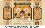 Algeria Lottery ticket 860 Francs 1956. Serial # 297924 XF