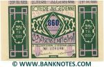 Algeria Lottery ticket 860 Francs 1955. Serial # 179190 (nice) XF