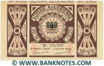 Algeria Lottery ticket 860 Francs 1955. Serial # 254902 (used) VF-XF