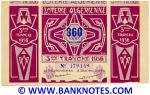 Algeria Lottery ticket 860 Francs 1956. Serial # 179149 (nice) XF