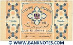 Algeria Lottery ticket 860 Francs 1959. Serial # 230862 (nice) XF