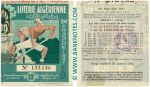 Algeria lottery half-ticket 50 Francs 1941. Serial # 133136 AU