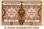 Algeria Lottery ticket 200 Francs 1944. Ser # 195705 (used) XF