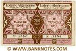 Algeria Lottery ticket 200 Francs 1944. Ser # 195705 (used) XF
