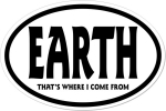"International oval sticker ""EARTH"""