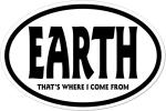"""International oval sticker """"EARTH"""""""