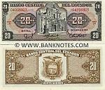 Ecuador 20 Sucres 1988 (LR 049933xx) UNC