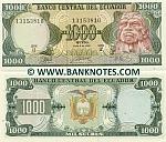 Ecuador 1000 Sucres 8.6.1988 (IZ 13153xxx) UNC