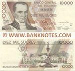 Ecuador 10000 Sucres 12.7.1999 (AP 043165xx) UNC