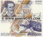 Ecuador 5000 Sucres 6.3.1999 (AN 188012xx) UNC