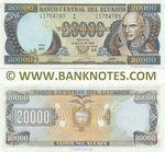 Ecuador 20000 Sucres 12.7.1999 (AK 117047xx) UNC