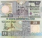Egypt 20 Pounds 16.11.2004 (sig.21b) (134/miim 22057xx) UNC