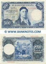 Spain 500 Pesetas 22.7.1954 (circulated) VF