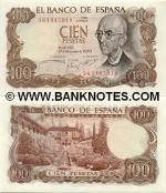 Spain 100 Pesetas 1970 (7S91775xx) UNC-